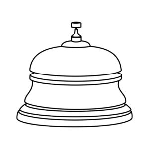 reception hotel ring isolated icon vector illustration design